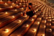Green Diwali options: Upcycled candle moulds, sandstone diyas