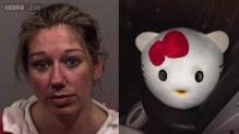 'Hello Kitty' arrested: Woman in the cartoon character's costume held on drunken driving charges