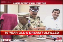 Watch: 10-year-old Sadiq, suffering from cancer, turns Hyderabad Police chief for a day