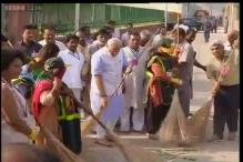 In pics: PM Modi, his ministers wield the broom for 'Swachh Bharat' mission