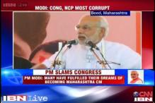 Maharashtra polls: Modi slams Congress, NCP, says they aren't 'rashtravadi' but 'bhrashtacharvadi'