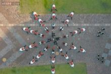 Watch: American band 'OK Go' uses a drone to film its latest music video while sliding on scooters in just one take!