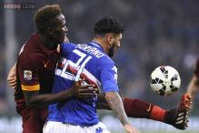 Roma held 0-0 by Sampdoria, Parma suffer fifth consecutive defeat