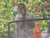 Congress's Savitri Jindal holds roadshow in Hisar, dismisses Modi wave