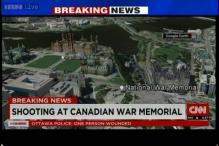 Firing close to Canada Parliament building, one soldier shot at