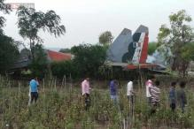 Snapshot: Sukhoi crashes near Pune village, pilots safe