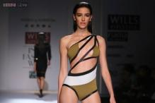 Wills Lifestyle India Fashion Week: Shivan and Narresh showcase bold bikinis and trikinis on the ramp