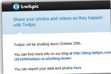 Image-sharing service Twitpic to shut down on October 25