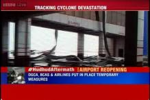 Cyclone Hudhud hit Vizag airport to resume partial services today