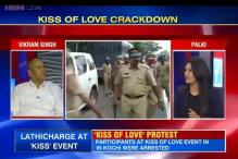 Was the police crackdown on the Kiss of Love protest justified?