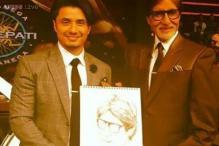 Snapshot: Ali Zafar draws megastar Amitabh Bachchan's sketch live on 'Kaun Banega Crorepati 8'