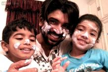 Happy birthday Arun Vijay: Tamil actor posts adorable cake-smeared photo with his kids
