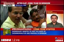 West Bengal: Congress delegation visits violence-torn Birbhum, stopped by police