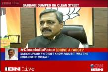 Delhi BJP unit Clean India campaign 'a farce', organisers dump garbage before event
