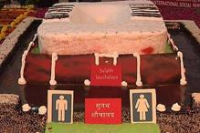 Watch: A super-sized cake shaped like a toilet was unveiled in New Delhi on World Toilet Day