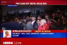 Modi flags off Kathmandu-New Delhi bus service
