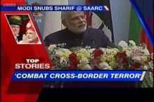 News 360: Modi snubs Sharif at SAARC, says combat cross-border terror