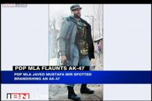 J&K: PDP MLA brandishes AK-47, claims he had it only for self defence