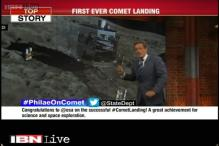 First in space exploration, European Philae lands on comet but fails to anchor