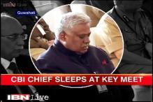CBI chief Ranjit Singh caught snoozing at internal security meet