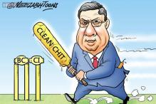 Cartoon of the day: N Srinivasan gets clean chit from Mudgal Committee