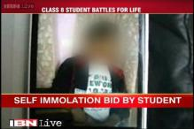 Class 8 student who set himself on fire battles for life in Faridabad