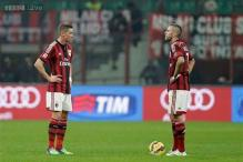 AC Milan lose 2-0 at home to Palermo in Serie A