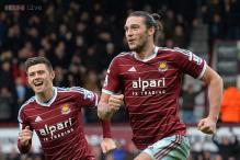 Andy Carroll brace gives West Ham 3-1 win over Swansea in EPL