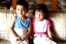 Snapshot: Aww! This picture of Aaradhya Bachchan with her cousin Vihaan Rai is adorable