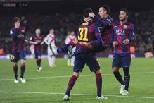 Barcelona rout Huesca 8-1 in Copa de Rey