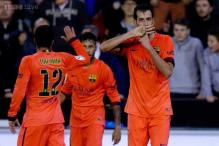 Sergio Busquets scores as Barcelona beat Valencia 1-0 in La Liga
