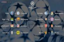 Champions League last-16 draw: Real Madrid get Schalke, Manchester City face Barcelona