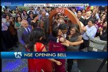 Watch: CNBC TV18 turns 15, NSE opening bell rung from its newsroom