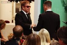 Elton John ties the knot with long-term partner David Furnish in front of a star-studded audience