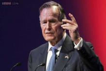 Former US president George HW Bush hospitalised