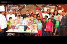 Mumbai's Hotel Novotel prepares gingerbread house with some underprivileged children on Christmas