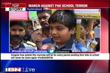 Hyderabad: School students join peace march in solidarity with Pak terror attack victims