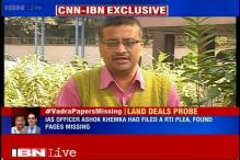 Vital pages of Vadra-DLF land deal not missing but detached, claims Ashok Khemka