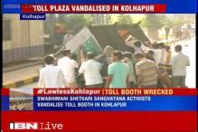 Swabhimani Shetkari Sanghatna activists vandalise Kolhapur toll booth