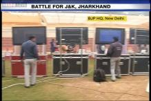 Battle for the states: Watch the early action at BJP headquarters in New Delhi