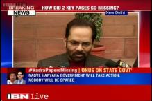 Robert Vadra land deal: Haryana government will take action, nobody will be spared, says Mukhtar Abbas Naqvi