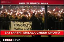 Oslo: Nobel Peace Prize winner Kailash Satyarthi supporters celebrate his win