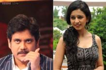 Rakul Preet Singh shoots for a special episode of 'Meelo Evaru Koteeswarudu' with Nagarjuna