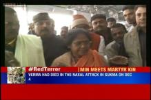 Sadhvi Niranjan Jyoti meets family of soldier killed in Naxal attack in Chhattisgarh