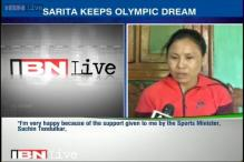 Grateful to entire nation for their support: Sarita Devi
