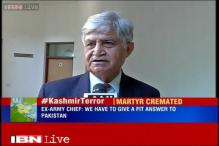 Pakistan should be given an answer for terror attacks in J&K, says retired Army Chief Malik