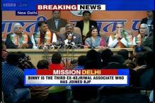 After Kiran Bedi and Shazia Ilmi, former AAP MLA Vinod Kumar Binny joins BJP
