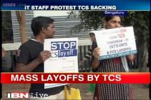 Bengaluru: TCS staff protest demanding government intervention in stopping mass layoffs