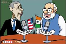 Cartoon of the day: 'Mann Ki Baat' with Modi, Obama