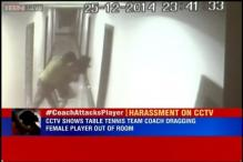 CCTV footage shows Chhattisgarh table tennis team coach dragging female member out of her room